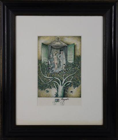 Raymond PEYNET (1908-1999).  Lithographie...