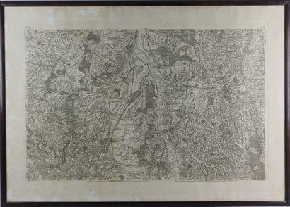 Carte de Cassini pour le bourbonnais, Gannat-Saint...