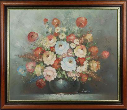 Edmond SANDERS (1898 - 1961).  Bouquet de...