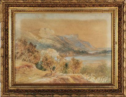 Félix FOUILHOUZE (1800-1885).  Lac dans les...