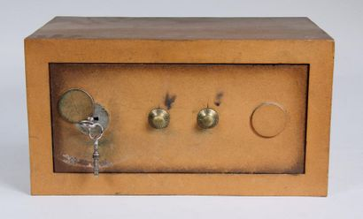 *Mini-coffre en métal H : 20,5 L : 38 P :...