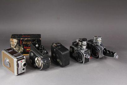 Lot de cinq caméras : - QUARTZ circa 1960...