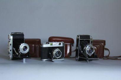 Lot de 3 appareils photos : AGFA modèle Record...