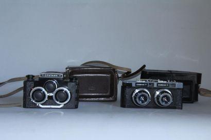 Lot de 2 appareils photos steréoscopics Russes...