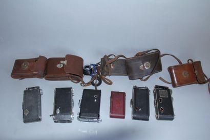 Lot de 6 appareils photos à soufflet : PHOTO PLAIT avec obj. Anastigmat Splendor...