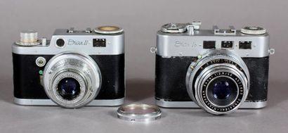 Lot : - DIAX appareil photo modèle Ib, obj.Schneider-Kreuznach...
