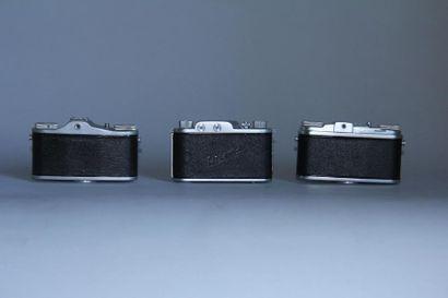 Lot de 3 appareils photos : FINETTA obj. Finetar 1: 4/43 ( usures ) FERRANIA modèle...