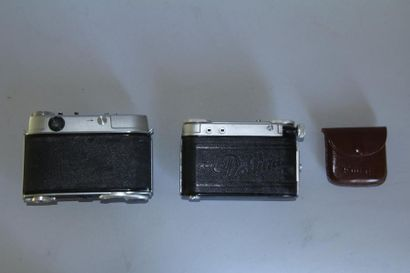 Lot de 2 appareils photos : KODAK modèle Retina II C obj. Retina-Xenon f: 2,8/50...