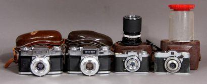 ZEISS-IKON Lot de quatre appareils photos...