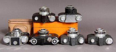 Lot de cinq appareils photos : - SEM modèle KIM obj. Orec anastigmat cross f-45...