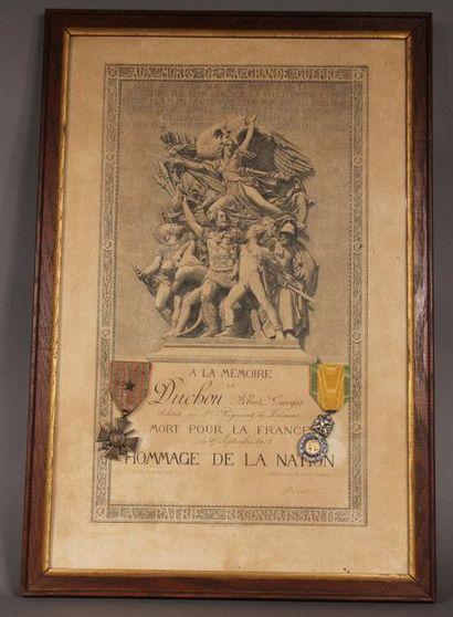 Croix de guerre 14-18 citation à l'ordre...