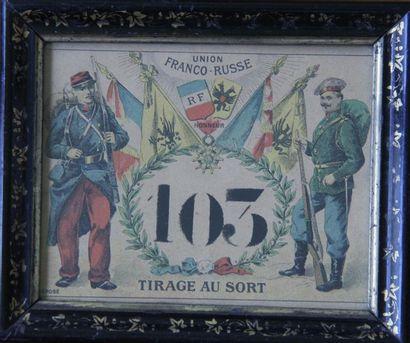 Lot : - Carton de tirage au sort conscription...