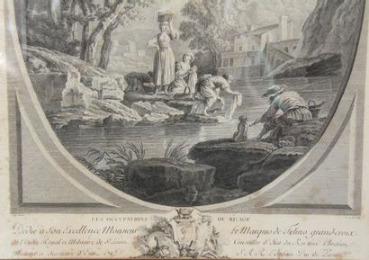 VERNET from The Abundant Source - The Ocupations of the Shore Pair of engravings...