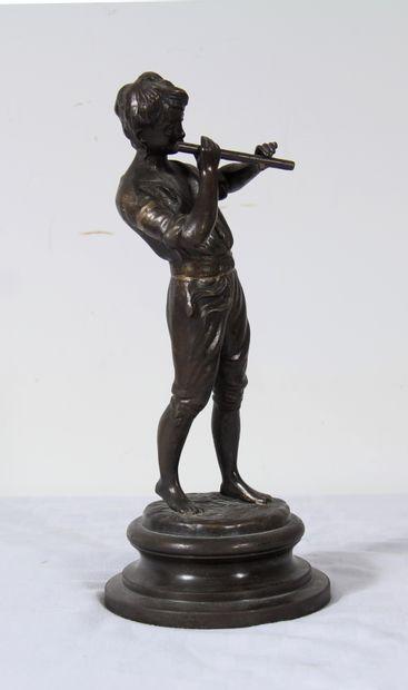 *Ecole moderne  Joueur de flûte  Sculpture...