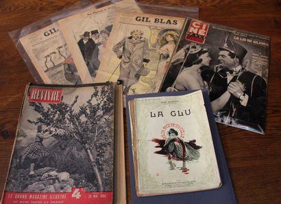 Lot de magazines, La Glu, Illustré hebdomadaire,...