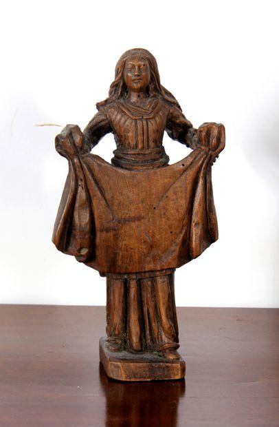 *Statuette en bois naturel représentant Ste...