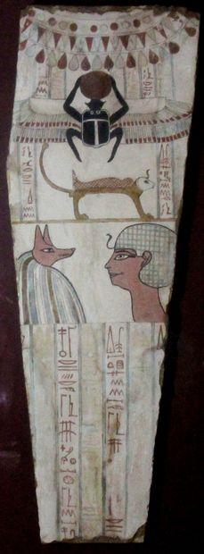 Bas relief égyptien H. : 86 cm L. : 29 c...