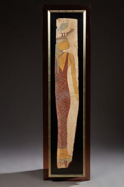 Planche de fond de sarcophage représentant...