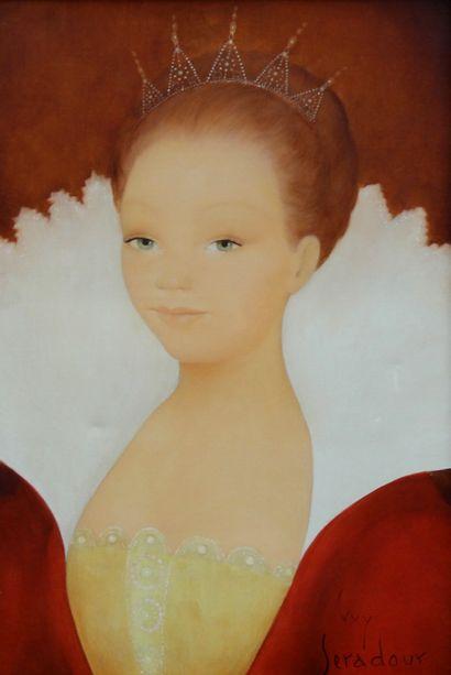 Guy SERADOUR (1922-2007)  Portrait de femme...