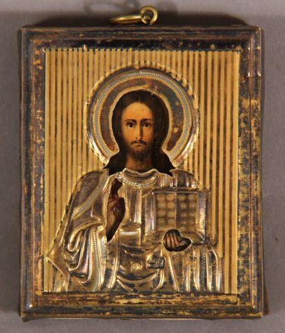 Le Christ Pantokrator  Rare petite icône...