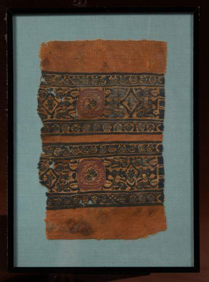 Fragment de textile présentant une double...