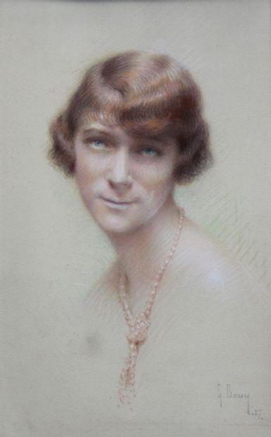 Gaston BOUY (1866-1943)  Portrait de femme...