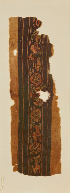 Bande de textile représentant des végétaux...