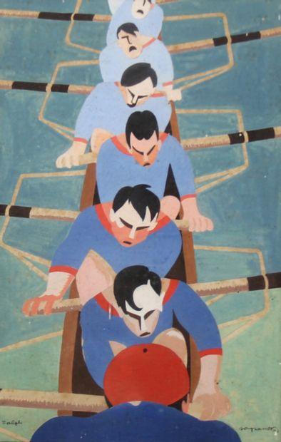 Ralph SOUPAULT (1904-1962)  L'aviron bayonnais...