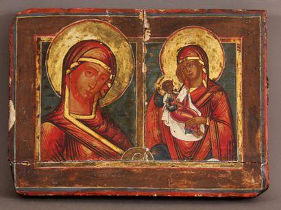 La Vierge au visage flamboyant et La Vierge...