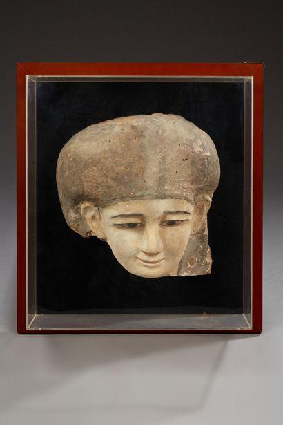 Fragment de cuve de sarcophage représentant...