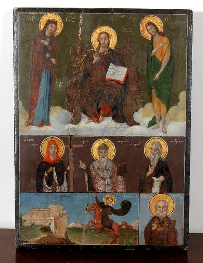 *Icône d'origine du Nord de la Grèce (Macédoine),...