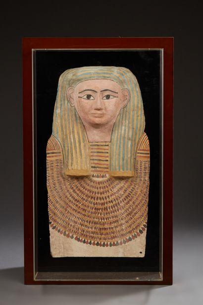 Masque de cuve de sarcophage à la carnation...