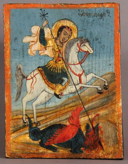 Saint Georges  Icône d'origine grecque, probablement...