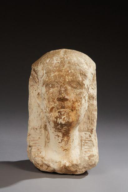 Tête de pharaon légèrement tourné vers la...