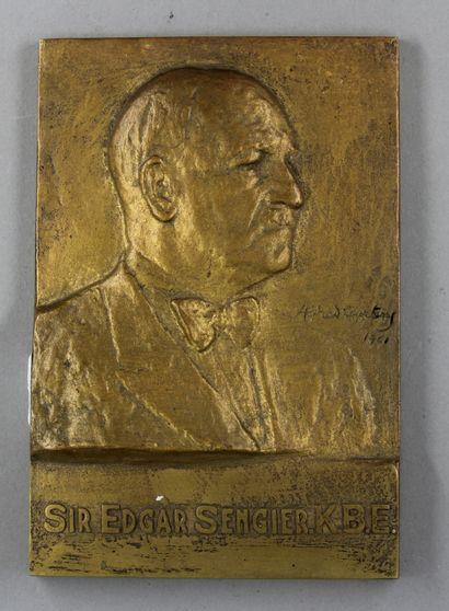 Alfred COURTENS (1889-1967)  Sir Edgard Sengier,...