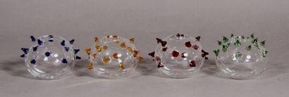 DIOR  Quatre boules de suspension en verre...