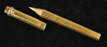 Must de CARTIER  Stylo bille en métal doré...