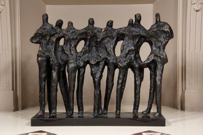 Ecole contemporaine  Personnages  Sculpture...