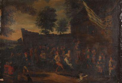 Ecole flamande du XVIIIème siècle, suiveur...