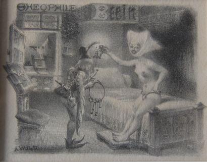 Adolphe WILLETTE (1857-1926)  La ceinture...