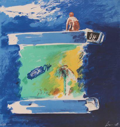 Christian BOUILLE (1948-2005)  Sans titre...
