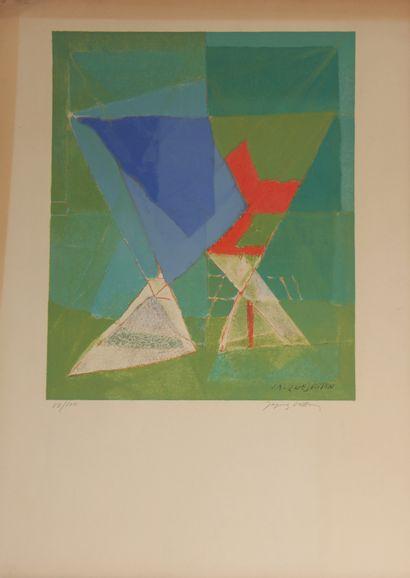 Jacques VILLON (1875-1963)  Composition cubiste...