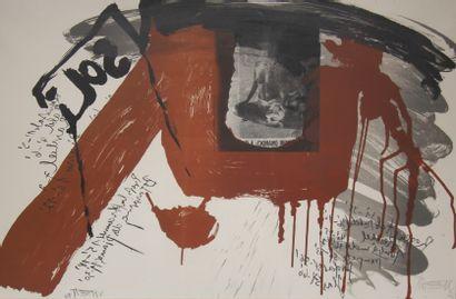 Wolf VOSTELL (1932-1998)  Composition abstraite...