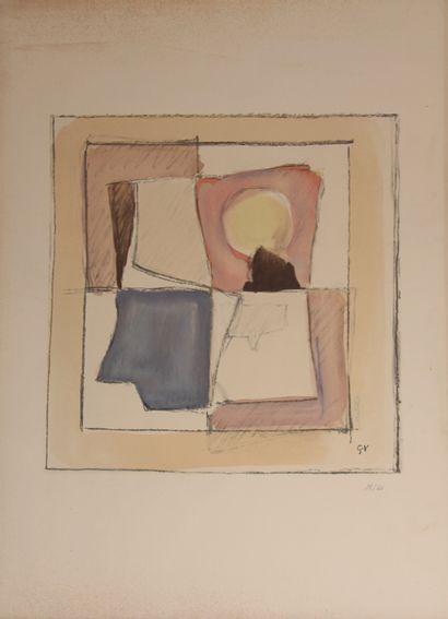 Geer van VELDE (1898-1977)  Sans titre  Lithographie...