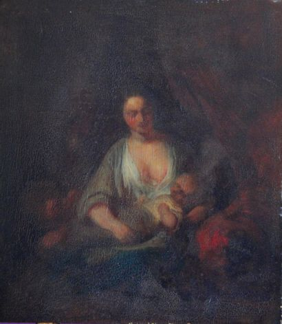 Eugène François de BLOCK (1812-1893).  Maternité....