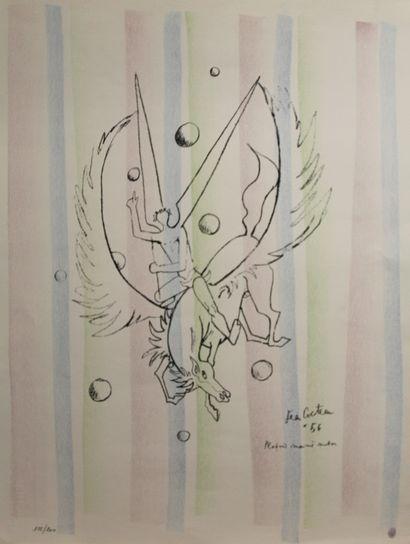 COCTEAU Jean (1889-1963)  Pégase, plafond...