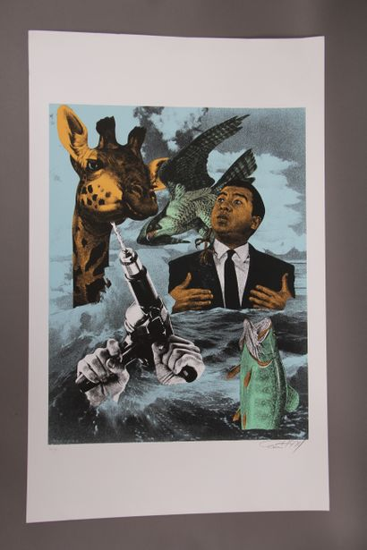ERRO (1932-)  Sianuk, 1974  Lithographie...