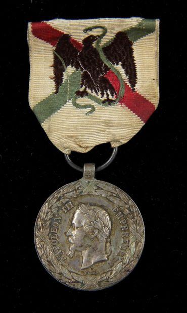 Médaille de la campagne du Mexique (1862-1863)...