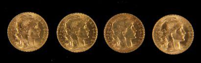 *Quatre pièces de 20 FF en or