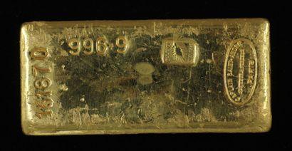 *Un lingot en or Caplain Saint André n°161870,...